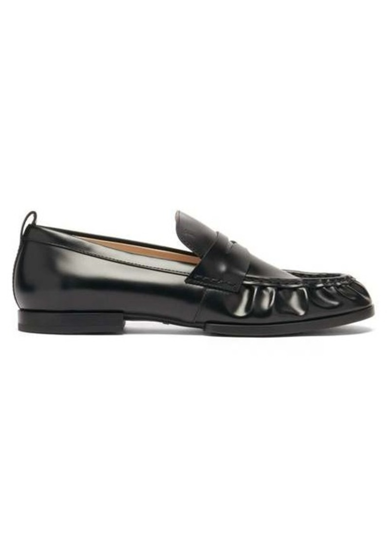 Tod's Gathered leather penny loafers