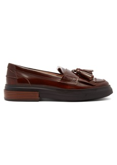 Tod's Gomma fringed patent-leather loafers