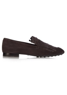 Tod's Gomma fringed suede loafers