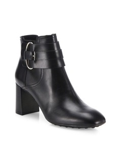 Tod's Gomma Leather Block-Heel Booties