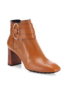 Tod's Gomma Leather Block-Heel Booties