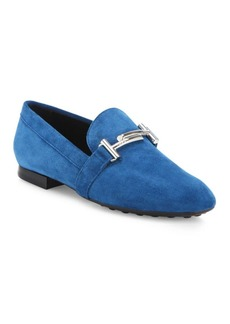 Tod's Gomma Nubuck Leather Loafers
