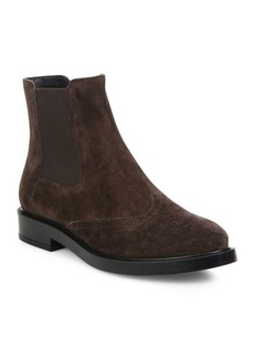 Tod's Gomma Suede Chelsea Booties