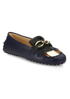 Tod's Gommini Fringed Leather Drivers