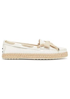 Tod's Gommini leather espadrille loafers