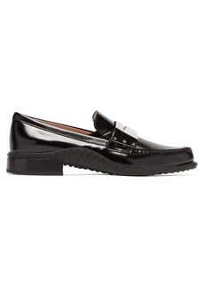Tod's Gommini metal-penny strap leather loafers