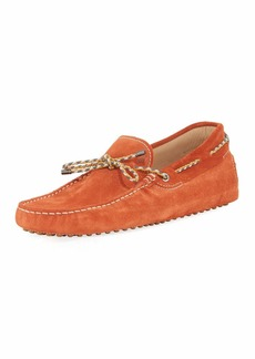 Tod's Gommini Suede Driver with Braided Tie
