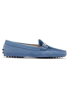 Tod's Gommini T-bar suede loafers