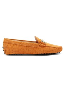 Tod's Gommino T-bar suede loafers