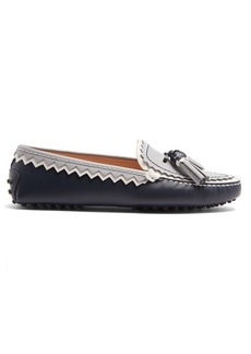 Tod's Gommini zigzag and tassel leather loafers