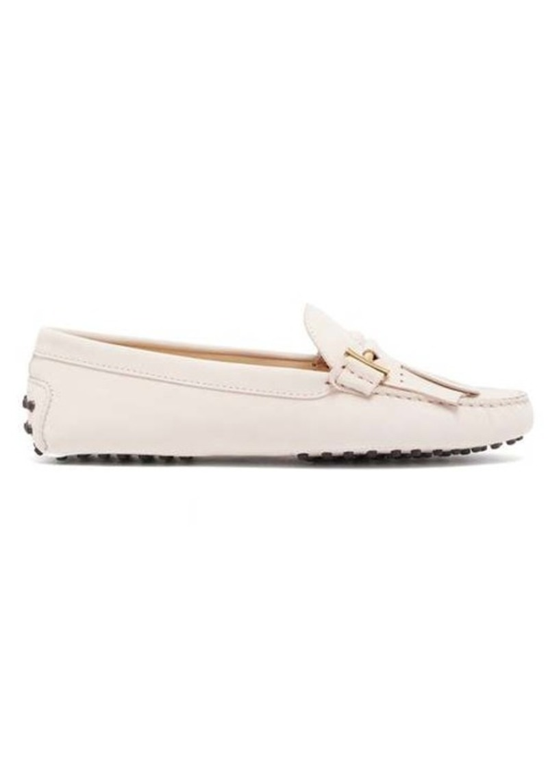 Tod's Gommino fringed nubuck loafers