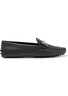 Gommino embellished leather loafers