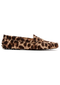 Tod's Gommino leopard-print loafers