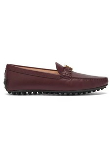 Tod's Gommino logo-plaque leather loafers