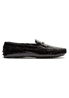 Tod's Gommino shearling-lined T-bar loafers
