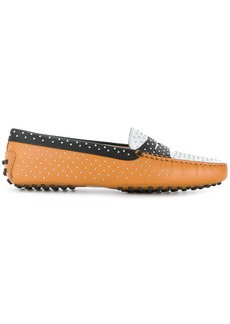 Tod's Gommino studded loafers - Brown