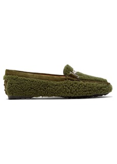 Tod's Gommino T-bar shearling loafers