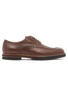 Tod's Grained-leather derby shoes