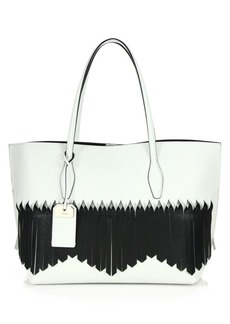 Tod's Joy Medium Two-Tone Fringed Leather & Nubuck Tote
