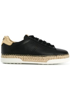 Tod's lace-up espadrille sneakers - Black