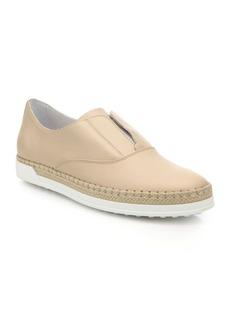 Tod's Laceless Leather Espadrille Sneakers