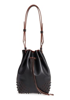 Tod's 'Large Wave' Calfskin Leather Bucket Bag