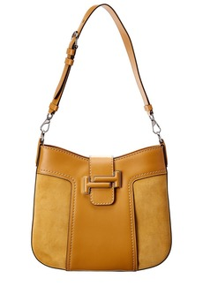 Tod's Leather & Suede Hobo Bag
