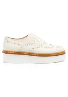 Tod's Leather flatform brogues
