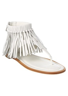 Tod's Leather Fringe Sandal