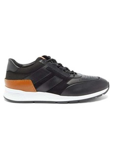 Tod's Leather, mesh and suede trainers