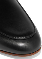 Tod's Embellished leather slippers