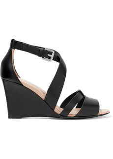 Tod's Leather wedge sandals