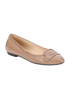 Tod's light brown leather penny loafer...