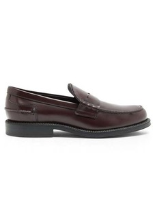 Tod's Logo-debossed leather penny loafers