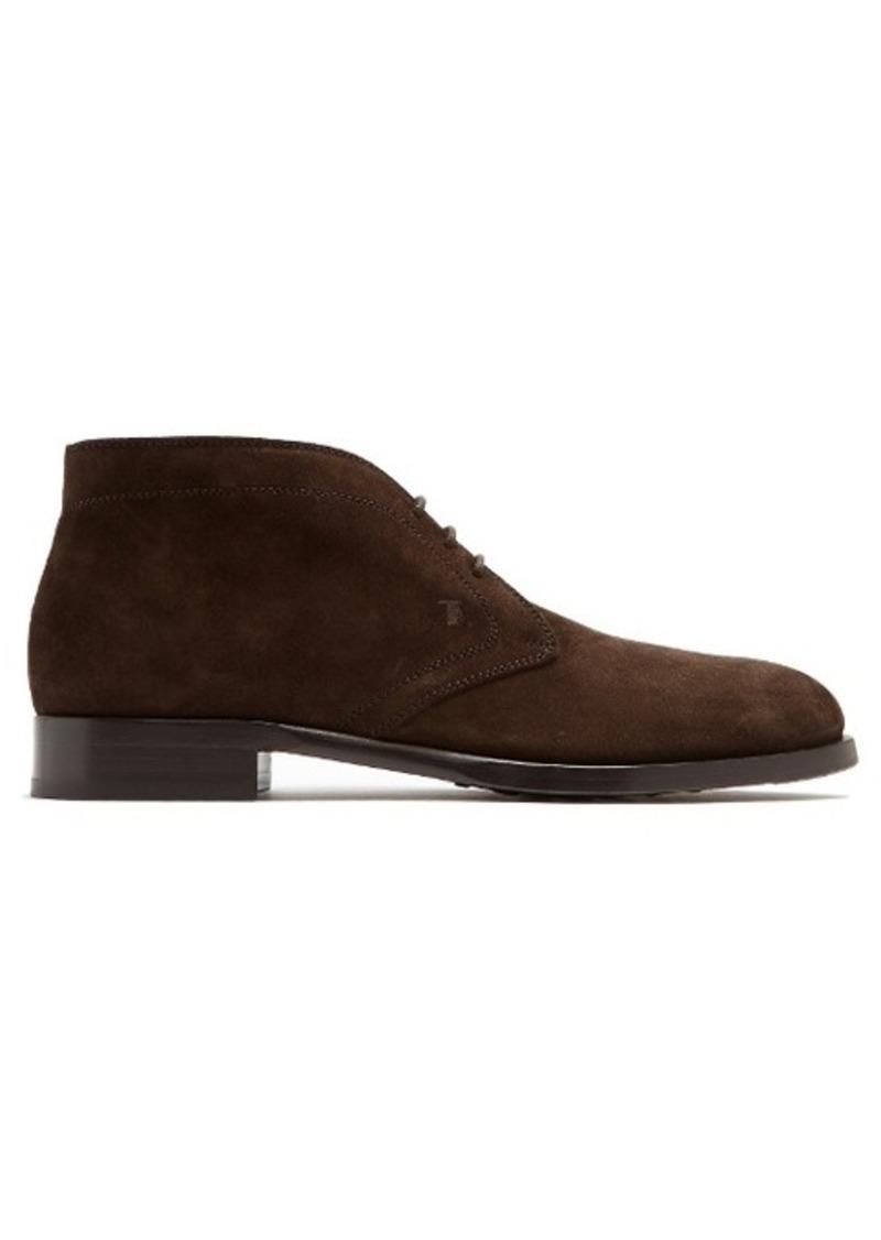 tod 39 s tod 39 s logo debossed suede desert boots shoes shop it to me. Black Bedroom Furniture Sets. Home Design Ideas
