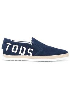 Tod's logo-print espadrilles - Blue