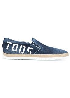 Tod's logo-print espadrilles
