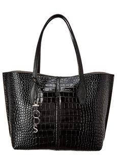 Tod's Joy Medium Croc-Embossed Leather Tote