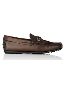 Tod's Men's Bit-Detail Burnished Leather Drivers