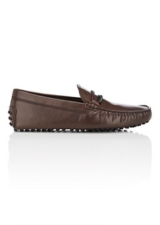 Tod's Men's Braided-Bit Leather Drivers