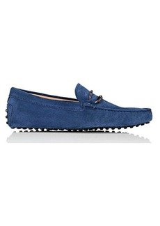 Tod's Men's Braided-Bit Suede Drivers