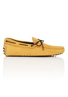 Tod's Men's Braided-Tie Nubuck Drivers