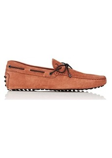 Tod's Men's Braided-Tie Suede Drivers