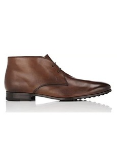 Tod's Men's Burnished Leather Chukka Boots
