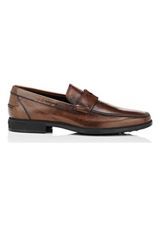 Tod's Men's Burnished Leather Penny Loafers