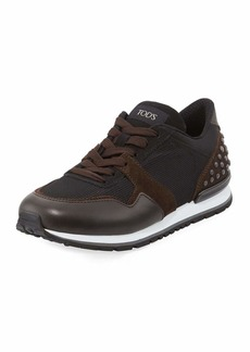 Tod's Men's Mesh & Leather Trainer Sneakers