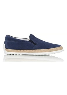 Tod's Men's Pantofola Suede Espadrille Sneakers