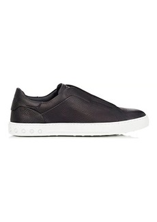 Tod's Men's Pebbled Leather Slip-On Sneakers