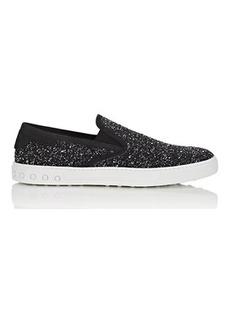 Tod's Men's Suede-Trimmed Wool Sneakers