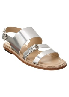 Tod's Metallic Leather Sandal